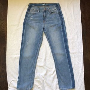 Mid rise straight ankle jeans